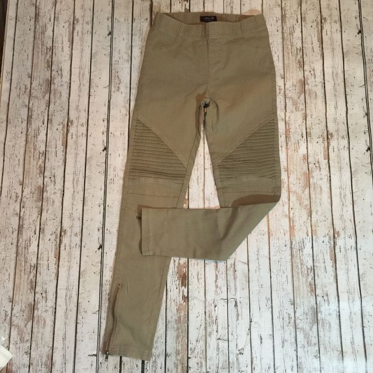 Hello Moto Khaki Leggings