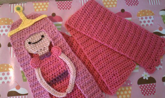 Princess Bubblegum Scarf by sandigurumi on Etsy