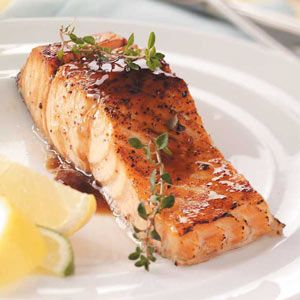 ♡♡♡ Maple Glazed Salmon Recipe ~ INGREDIENTS: Ruby red grapefruit juice - Balsamic vinegar - Maple syrup - Garlic cloves - Olive oil - Salmon fillets  - Salt - Pepper