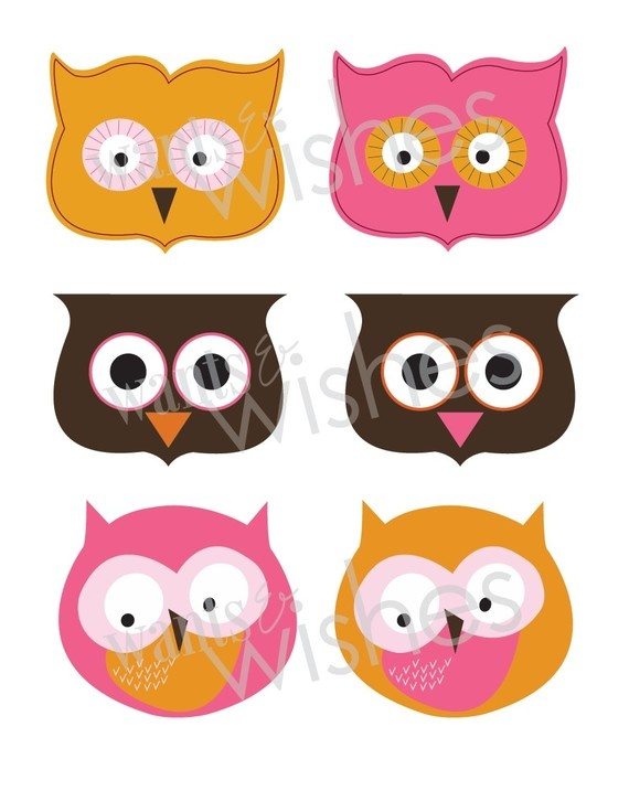 Template For Treat Toppers Owls | just b.CAUSE