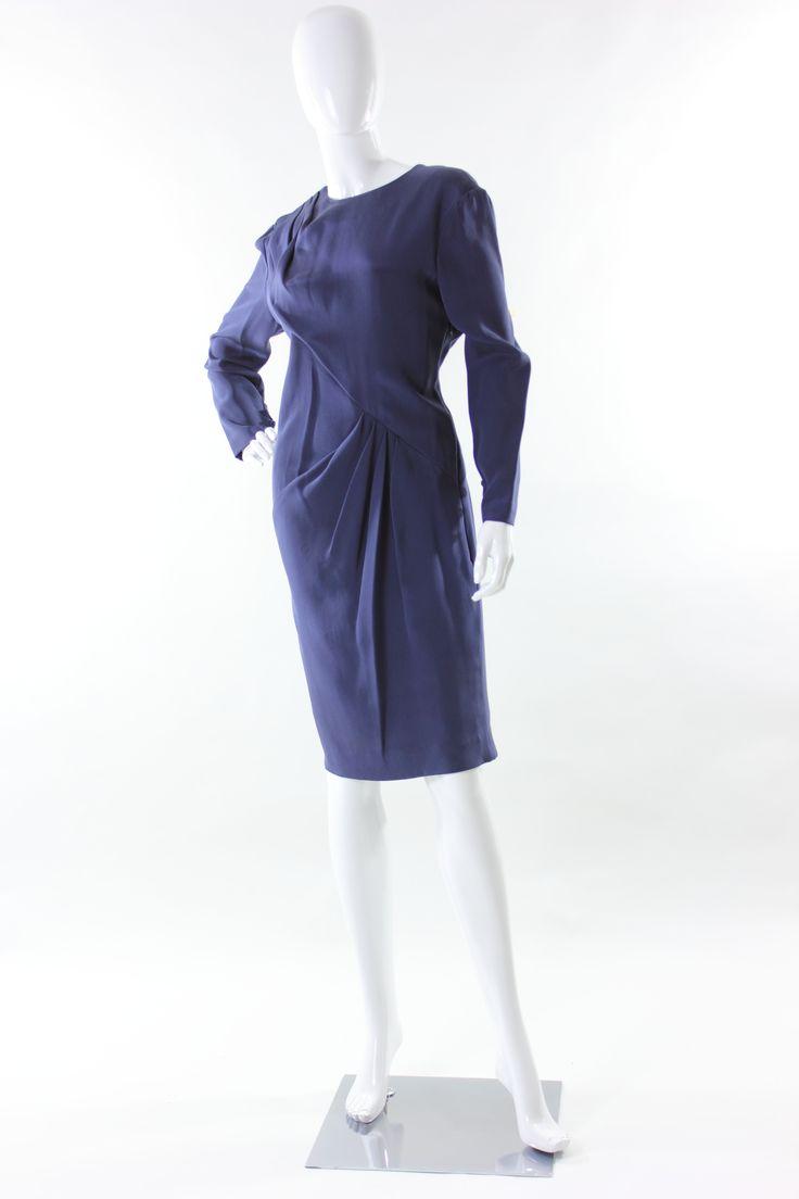 Abito vintage drappeggiato Bill Blass 1991 sz 46 Vintage Bill Blass draped dress from 1991 sz 46