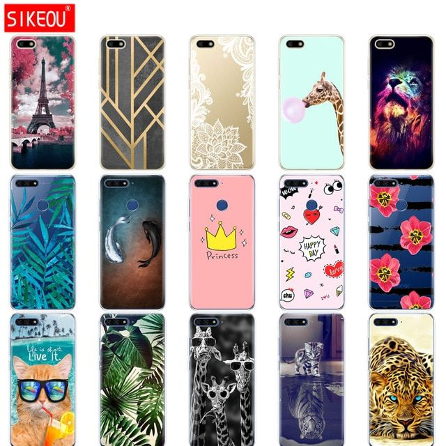 Silicone Case For Huawei Honor 7a Pro Case Huawei Y6 2018 Prime Cover Huawei Y5 2018 Prime Phone Back Cover Soft Tpu Bumper Bag R Case Silicon Case Phone Cases
