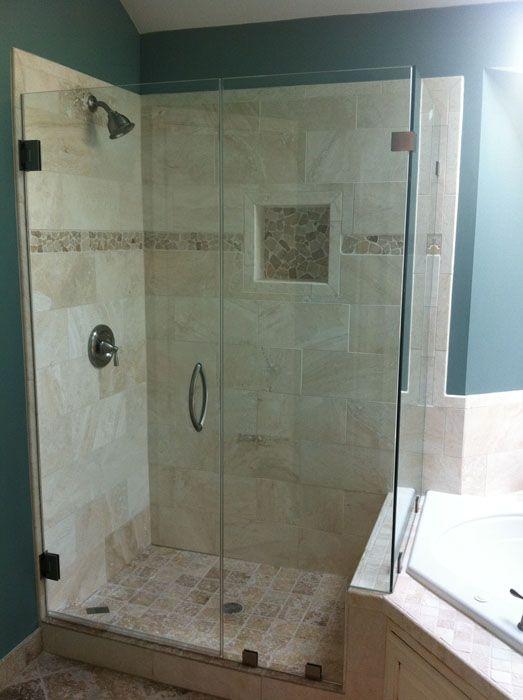 20 Best Bathroomredo Images On Pinterest Glass Showers Frameless