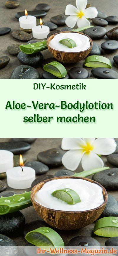 Machen Sie sich Aloe Vera Bodylotion – Rezept & Anleitung – coole Ideen