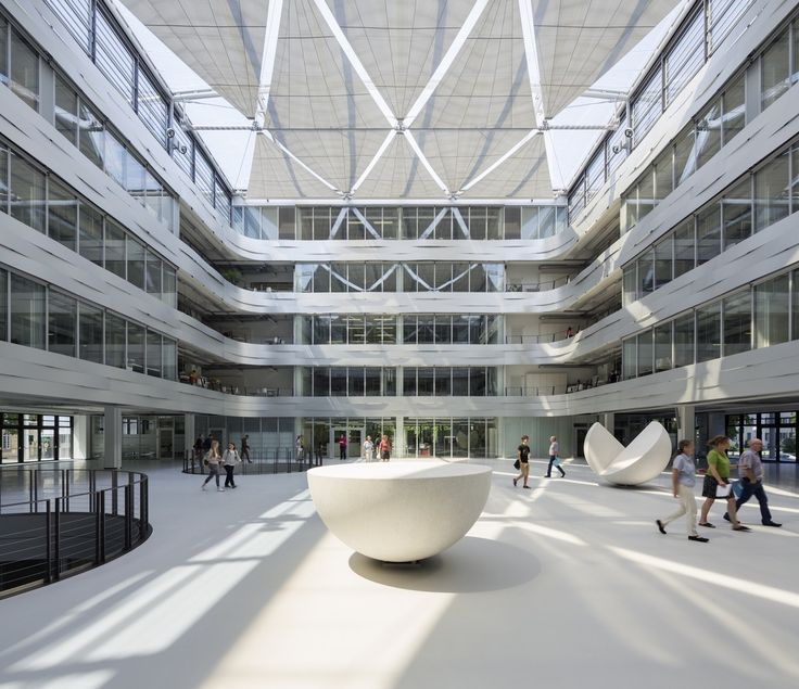 Gallery of Institute of Mathematics - University of Karlsruhe / Ingenhoven Architects - 1