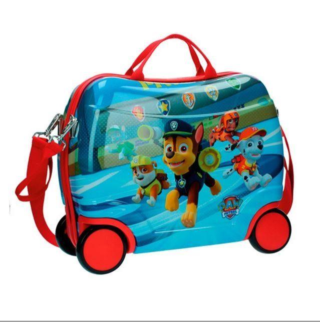 Paw Patrol  kuffert med 4 hjul, blå-rød