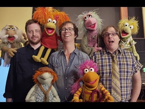 Ben Folds Five recording session crashed by Fraggles. Yes, those Fraggles.