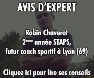 Page dédiée aux conseils du coach sportif individuel Robin Chaverot