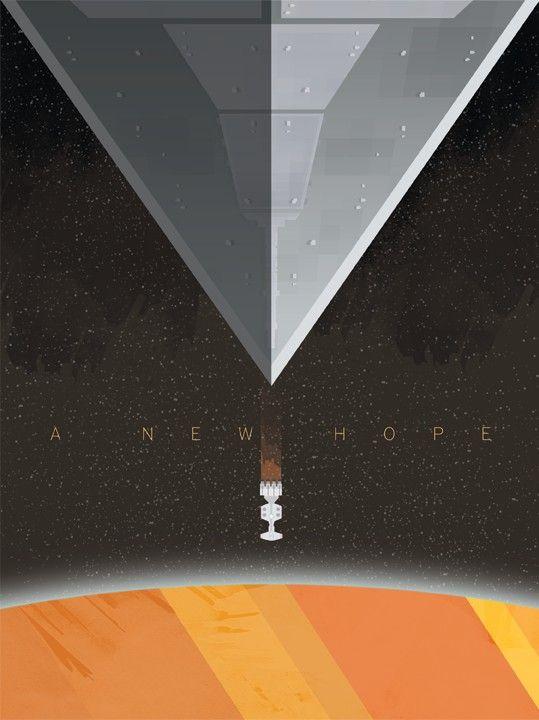 3 posters pour les premiers Star Wars star wars poster affiche original film 01 design