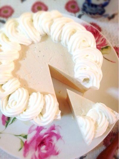 お砂糖なしのほうじ茶レアチーズケーキ。 by Misuzuさん | レシピ ...