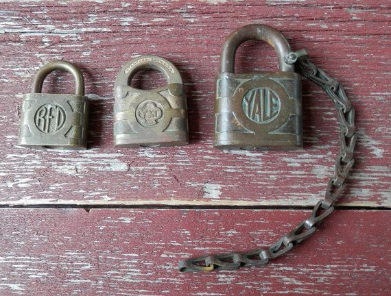 Vintage Brass Padlock Collection Yale Yale Towne Acme