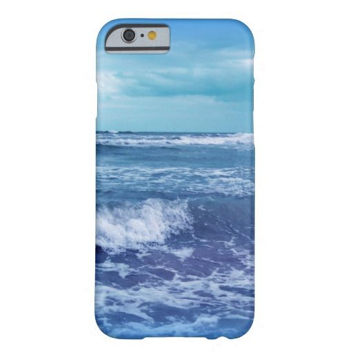 Blue Atlantic Ocean Waves Clouds Sky Photograph Barely There iPhone 6 Case