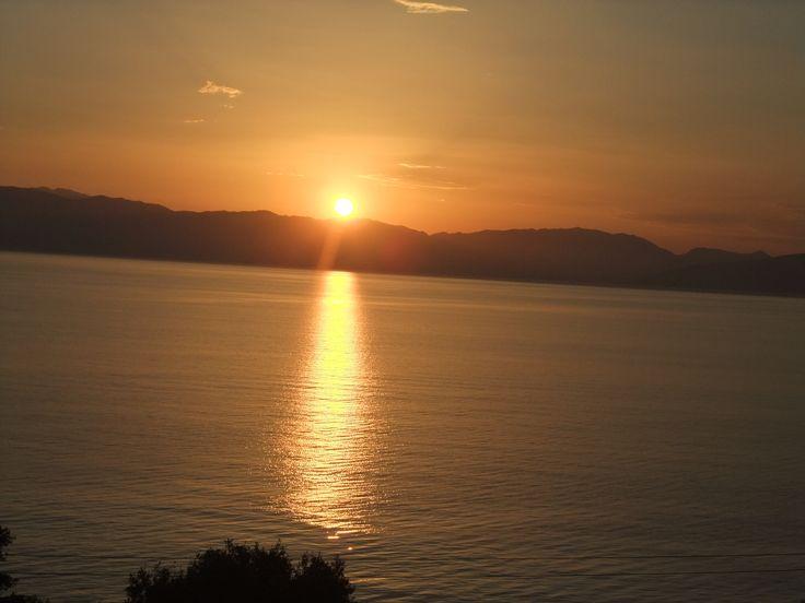 Greece. Corfu. Sunrise.