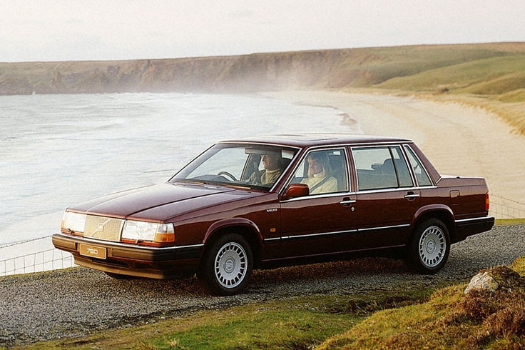 European Volvo 760 Turbo, circa 1988 - my second car was this, in silver (the American version, which had separate fog lights). Some say these look too much like GM cars of the same era (Celebrity, Cavalier, Regal) but I always thought it was the most handsome car on the road.