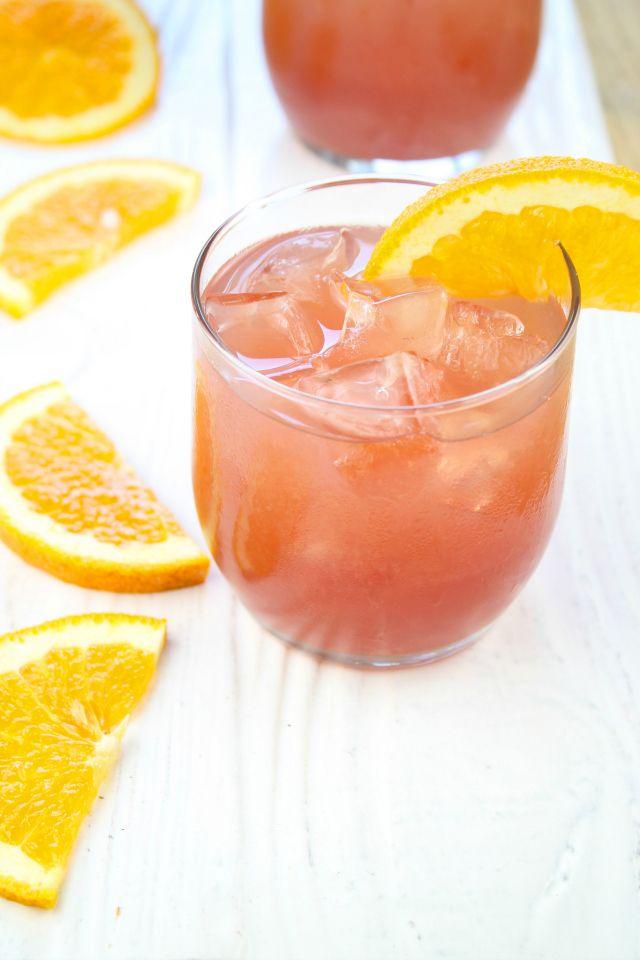 Orange Pomegranate Moscato Cocktail from missinthekitchen.com