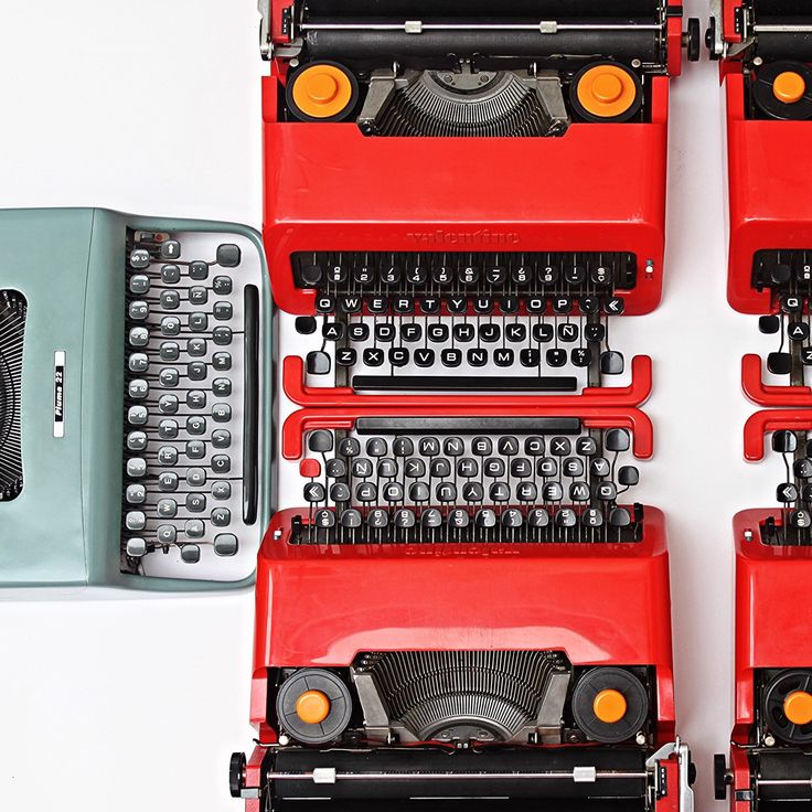 Classic or modern? 🍉🐋🌴🌵#olivetti #iconic #design #fashion #cool #valentine #slowlife #writer #relax #italy #love #summer #holidays #inspiration #imagination #etsy #writer #california #books #red