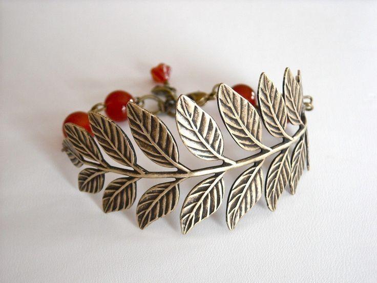 Free Shipping Vintage Leaf Bracelet Charm bracelet Wedding bracelet Friendship Antiqued leaf Agate Bracelet 21.00 USD Available at http://ift.tt/1NM3wVS