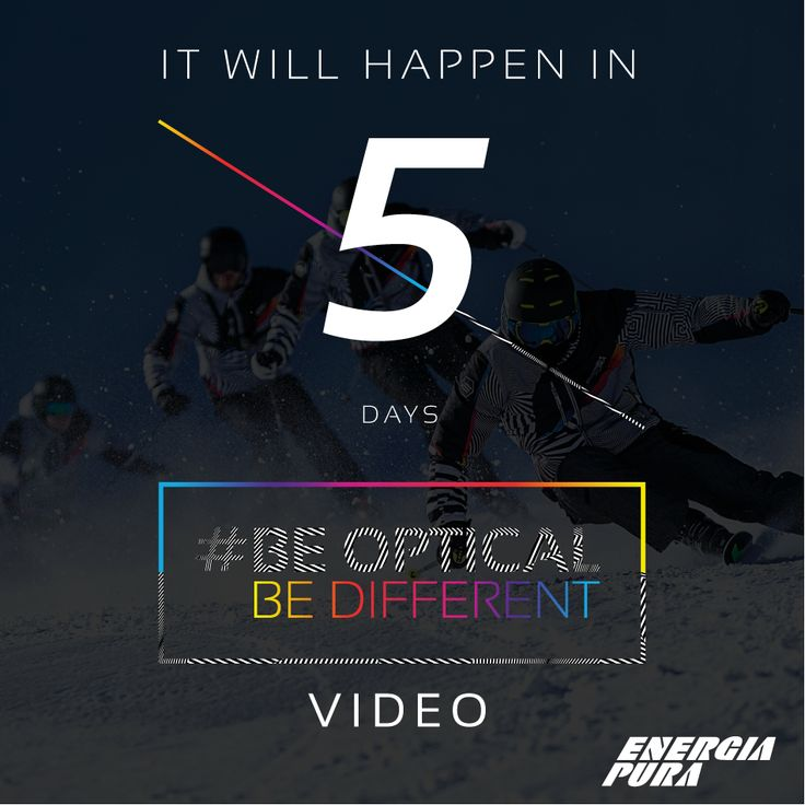 It will happen in 5 DAYS.. BE OPTICAL Official video with #MaxBlardone & #ALFAROMEO.  ARE YOU READY? #beopticalbedifferent #5daystogo  Watch the official Trailer: Facebook: https://www.facebook.com/energiapuraofficial/videos/1409823222383686/ YouTube:https://www.youtube.com/watch?v=QK3OMq5DO-Y