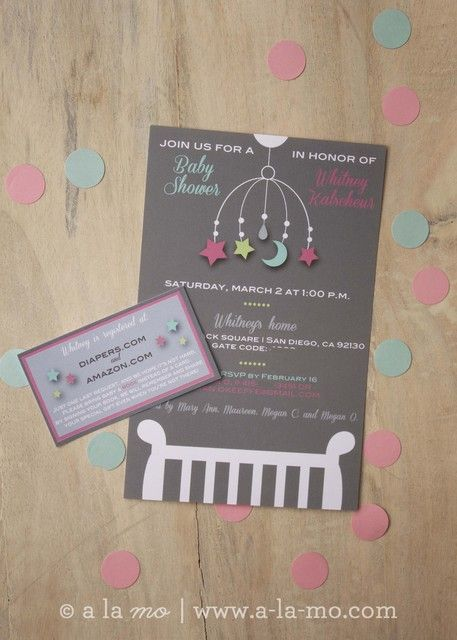 Amazing invitation for a baby shower! See more party ideas at CatchMyParty.com!