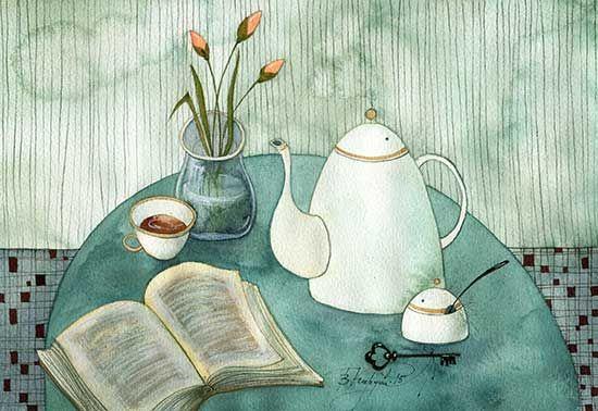 """bibliolectors: """" Dónde se ha ido el lector? (ilustración de Victoria Kirdy) """""""