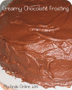 Home made creamy chocolate frosting