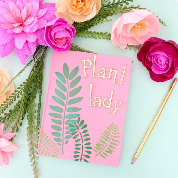 Mixed Media Plant Lady Journal Makeover by Kailo Chic #decoartprojects