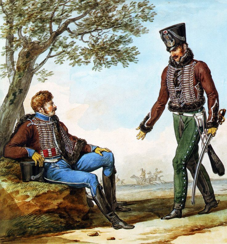 French Army 1812 1st Regiment of Hussars by Vernet