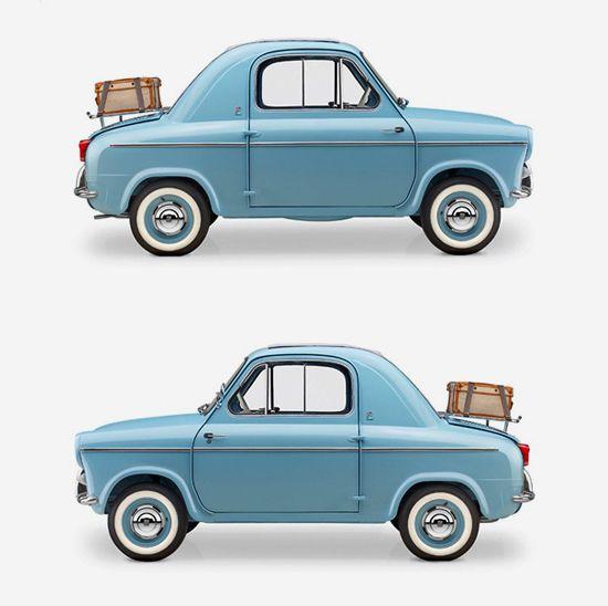 Vespa 400, a rear-engined microcar.: Micro Cars, Sports Cars, Vintage Cars, Vespas 400, 400 Micro, Microcars, Vespa400, Fiat 500, 1957 1961
