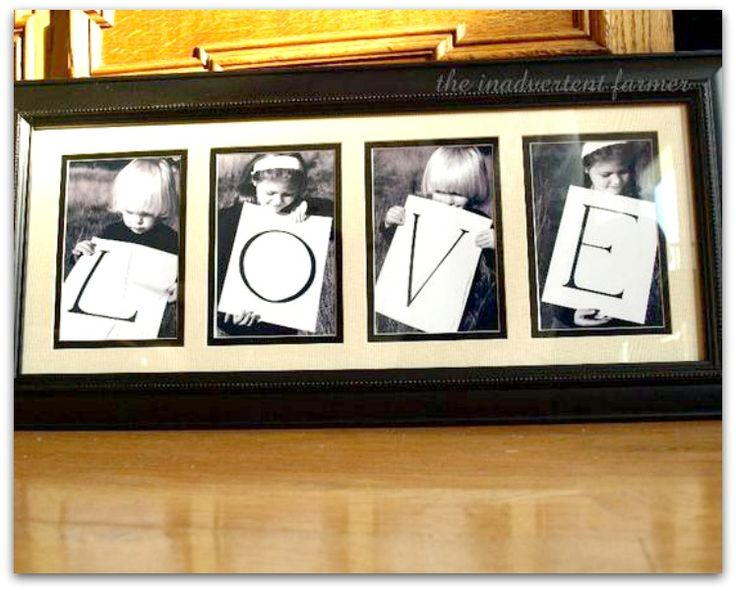 LOVE sign - soooo easy to make!!  Great Mother's Day gift!
