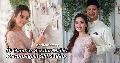 """10 Gambar Sekitar Majlis Pertunangan Siti Saleha Dengan Lufti   10 Gambar Sekitar Majlis Pertunangan Siti Saleha Dengan Lufti  Pelakon jelita Siti Saleha selamat bertunang dengan kekasihnya Lufti Azhar semalam. Untuk pengetahuan Lufti Azhar merupakan seorang pegawai kerajaan dan mereka berdua mula berkenalan tahun lalu. Selepas setahun berkenalan pasangan ini dikatakan sudah cukup mengenali hati budi masing-masing. Ini komen Siti Saleha:""""Alhamdullilah apa yang kami rancang berjalan lancar…"""