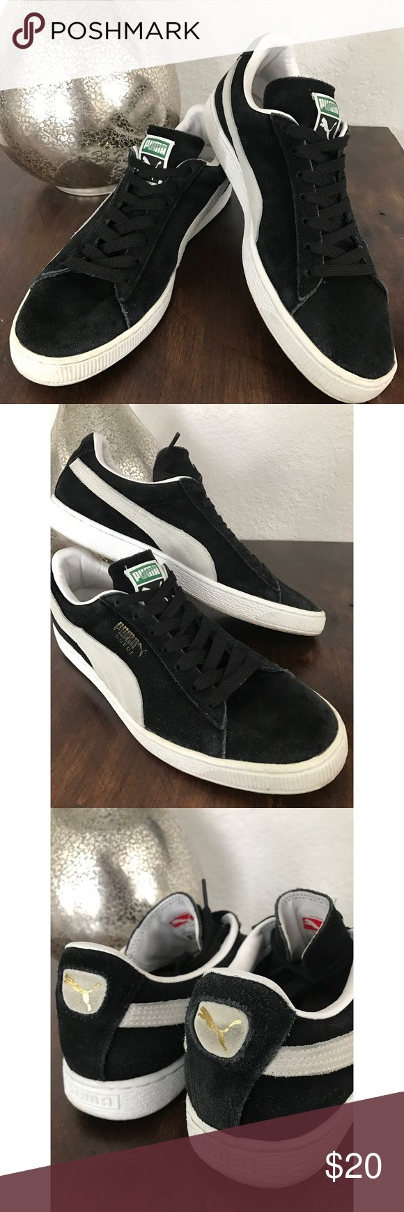PUMA MENS suede CLASSIC SNEAKER 13 Minimal wear . Black in good condition. Puma Shoes Athletic Shoes