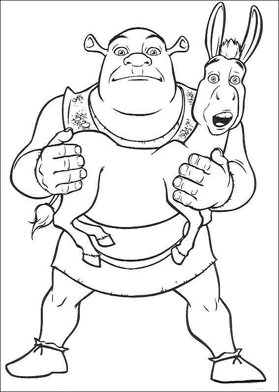 Coloriage Dessins. Shrek 135