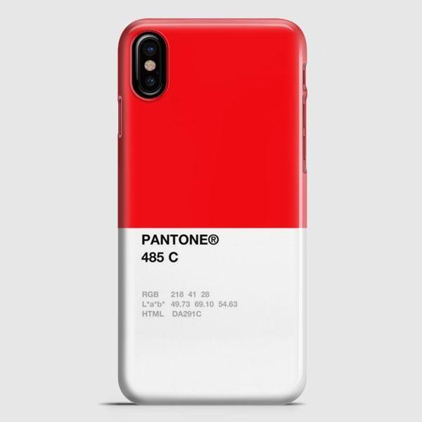 Pantone 485 C iPhone X Case
