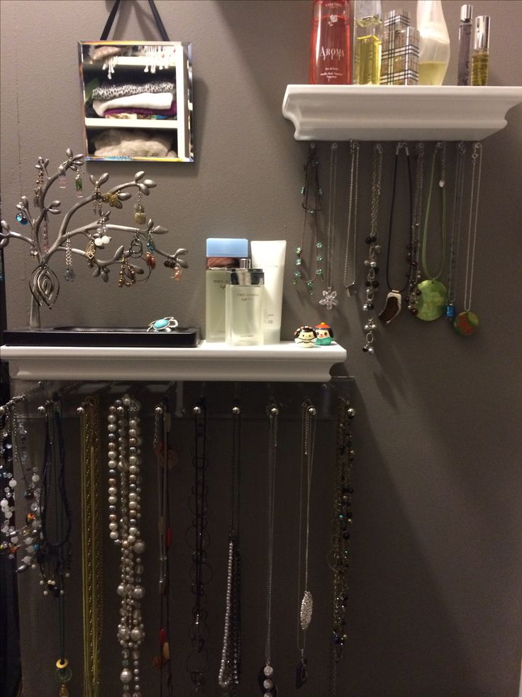 My new jewelry organizer wall