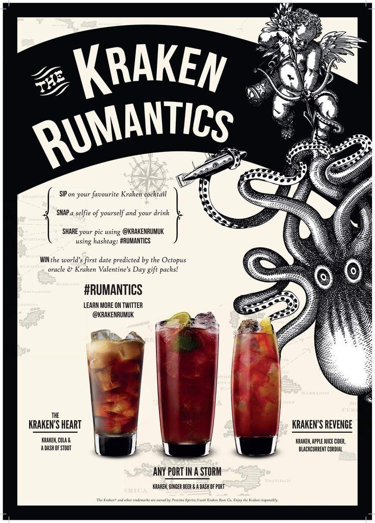 Kraken Rum cocktails