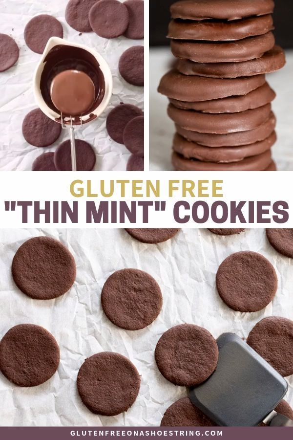 Diy Homemade Gluten Free Thin Mint Girl Scout Cookies These