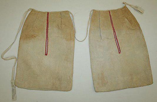 Pockets. Linen. 18th century. Met.