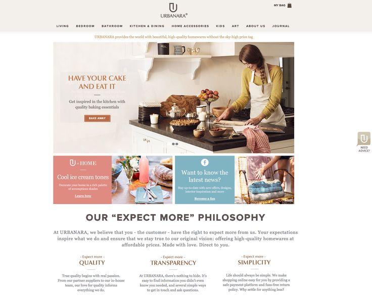 Urbanara homepage