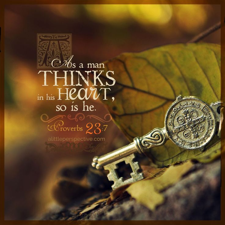 As a man thinks in his heart, so is he. Pro 23:7 | scripture pictures at alittleperspective.com