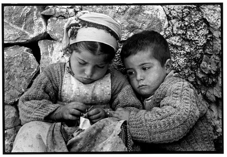 "GREECE. Karpathos. Olympos 1964. Brother and sister. ""A Greek Portfolio"" p.107 © Costa Manos/Magnum Photos"
