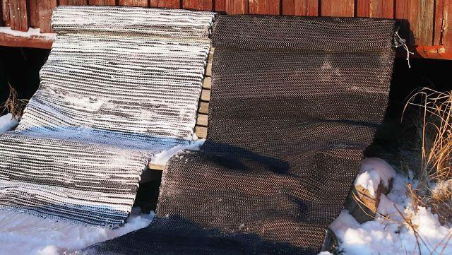 Liljan Lumo: Fog and Darkness -rag rugs made and designed by Tiina Lilja/ Liljan Lumo