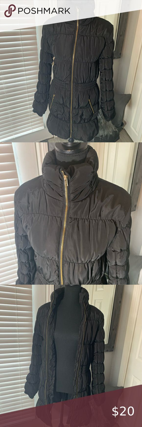 H&M Black Puffer Down Coat Jacket Size 14 Youth in 2020