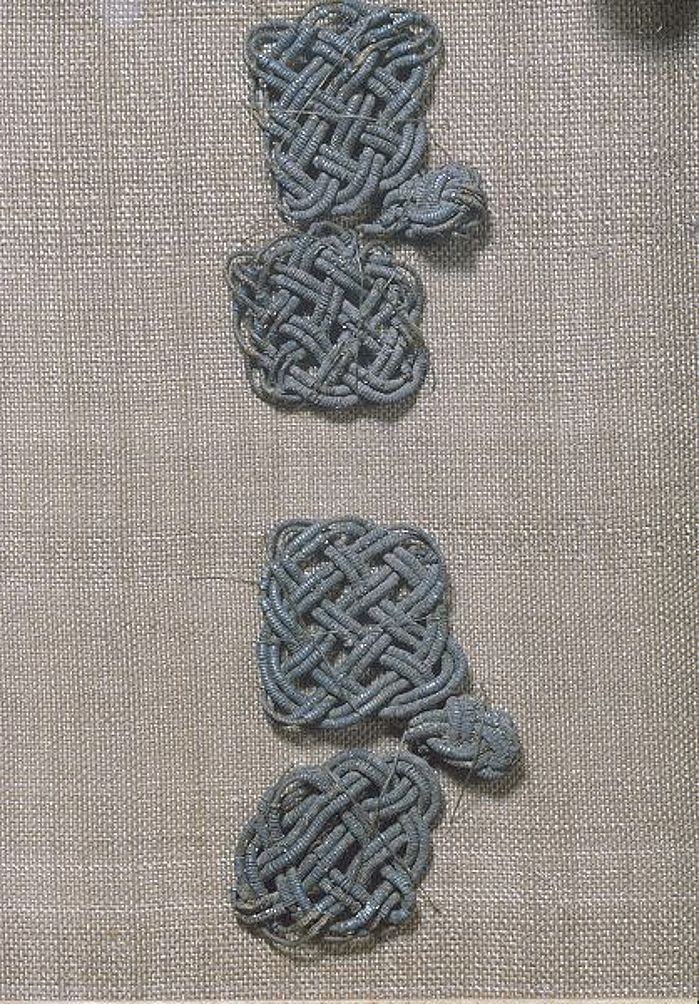 Bj 520 Birka Textile Fragment - posament work.