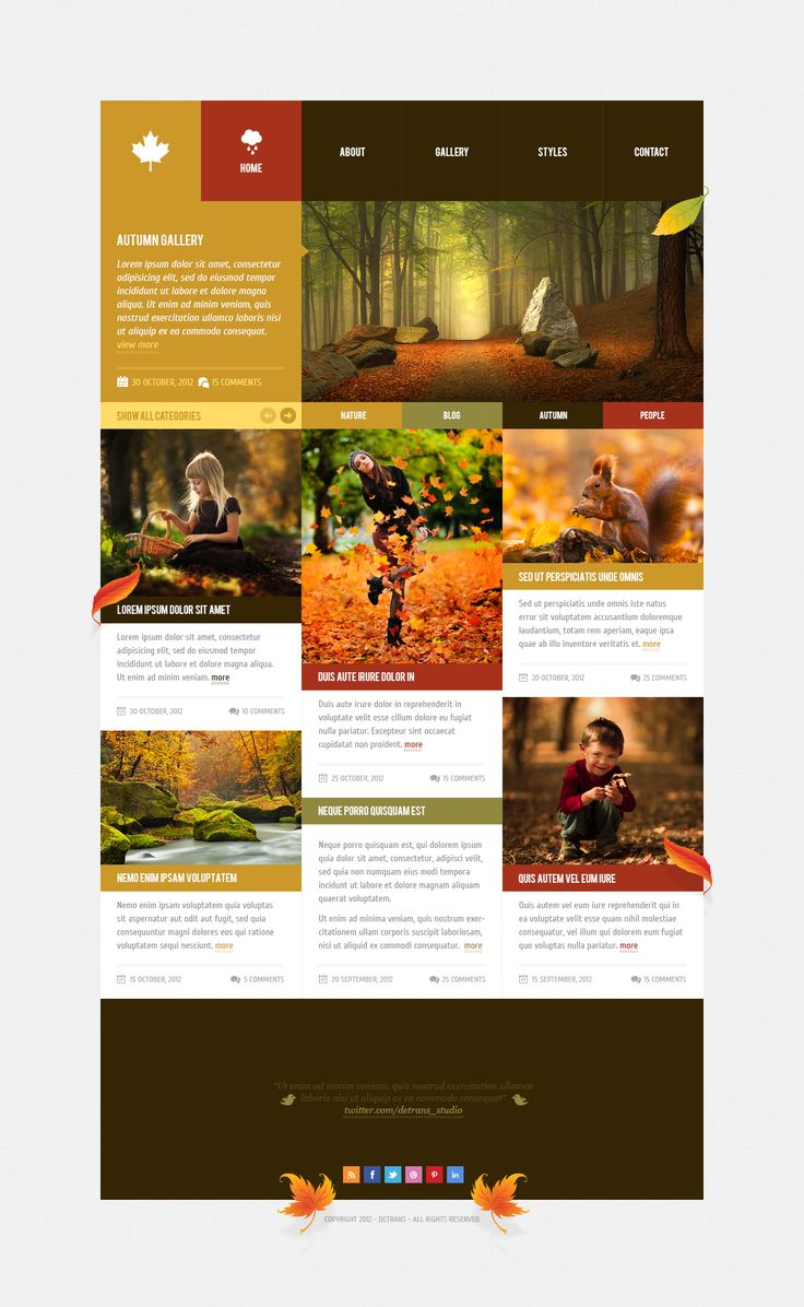 Original image for Autumn - WordPress Theme - A post from detrans - Forrst