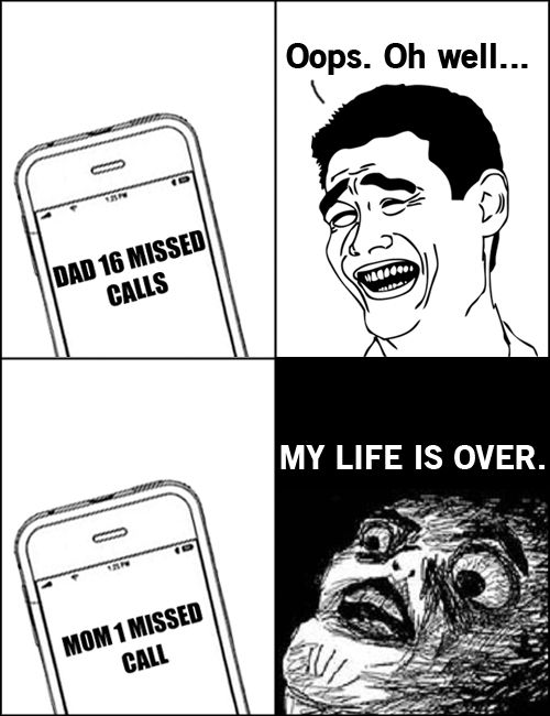 Meme Comics – Missed calls