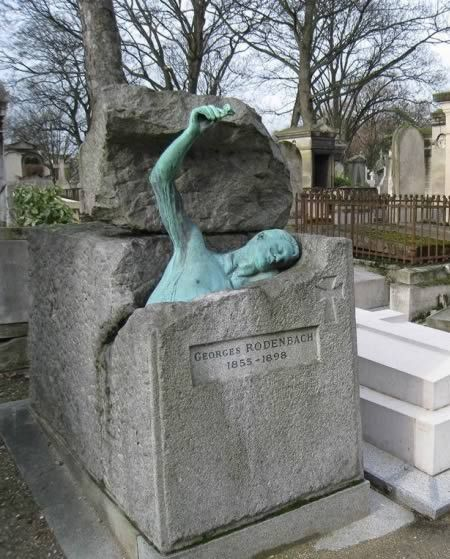 Père Lachaise cemetery in Paris is possibly the most visited graveyard in the world, and its known as much for the beauty of its monuments as for the celebrity of its occupants.  However, arguably the most dramatic tomb belongs to an author most people have never heard of.