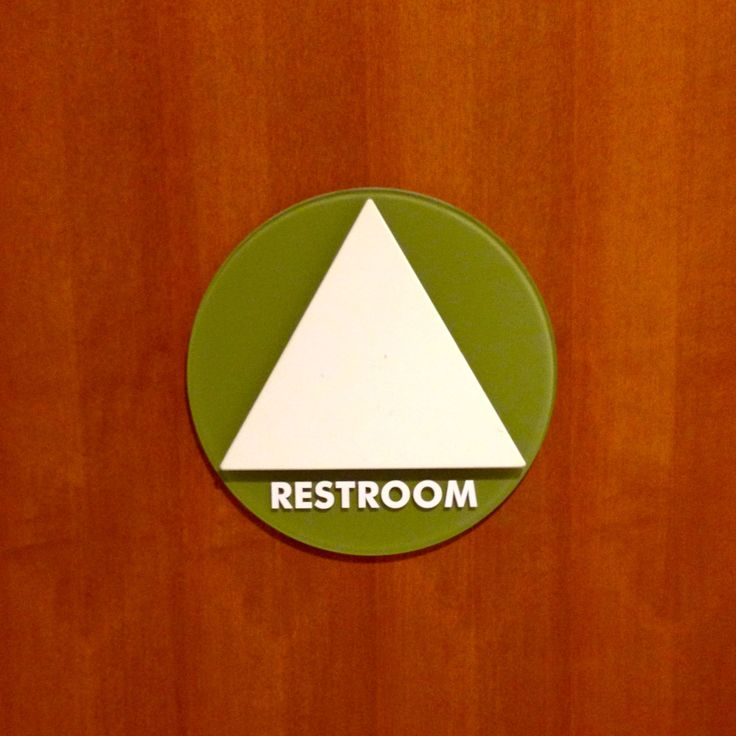 Bathroom Signs Circle And Triangle 25 best bathroom signs images on pinterest | bathroom signs