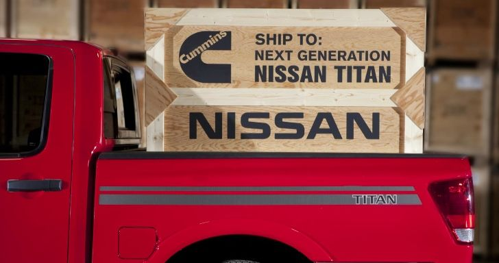 The 2015 Nissan Titan will offer a Cummins 5.0L V8 Turbo Diesel option with 300hp and over 500 lb-ft of torque!