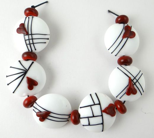 Corinabeads -Lampwork beads by Corina Tettinger. would look good in polymer clay