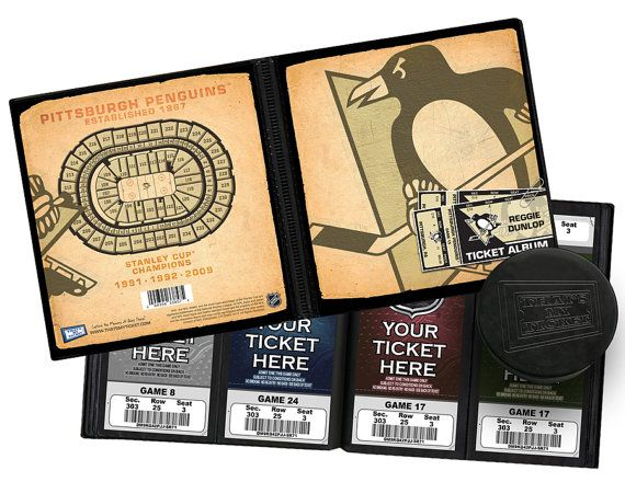 Personalized Pittsburgh Penguins Ticket Album - Officially Licensed by the NHL